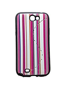Iway Matte Leather Finish Diamond Soft Back Cover for Samsung Galaxy Note 2 N7100   Pink available at Amazon for Rs.99
