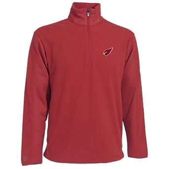 NFL Mens Arizona Cardinals 3 4 Zip Fleece Pullover by Antigua