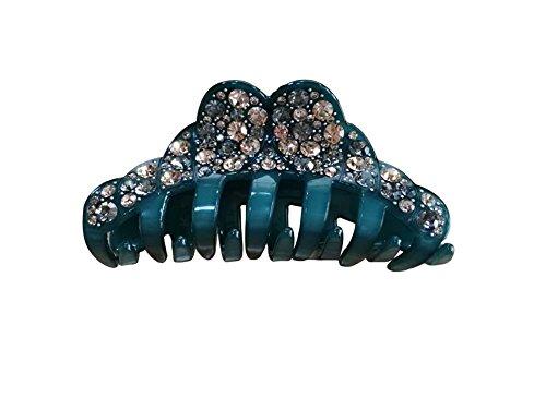 elegant-womens-rhinestone-epoxy-enamel-hair-claw-hair-clip-dark-green
