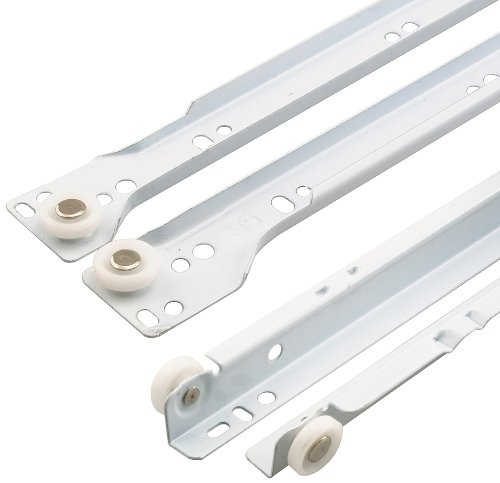 Prime-Line Products R 7211 Drawer Slide Kit, 17-3/4 in., Steel Tracks, White Powder Coat (Drawer Slide Kit compare prices)