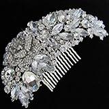 Exquisite Bridal Hair Comb - wedding bridal bridesmaid prom tiara side comb