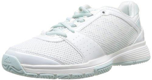 Adidas Performance Womens Barricade Team 3 W Running Shoes F32355 Running White FTW/Running White FTW/Fresh Aqua Smc 4 UK, 36.5 EU