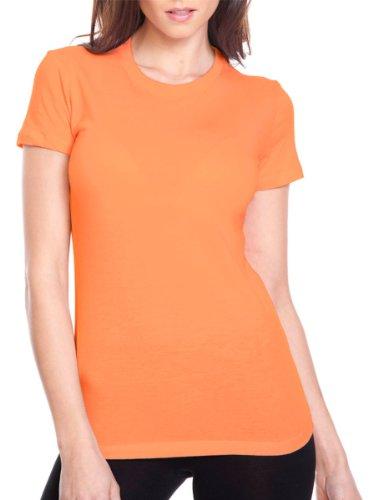 Next Level Perfect Vintage Jersey T-Shirt, Light Orange, Small (Pack6)
