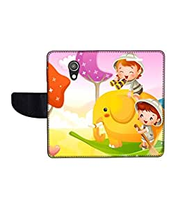 KolorEdge Printed Flip Cover For Motorola Moto G (2nd Gen) Multicolor - (50KeMlogo09675MotoG2)