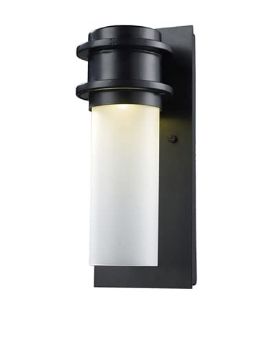 Artistic Lighting 1-Light LED Freeport Outdoor Sconce, Matte Black