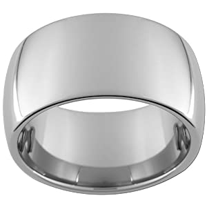 12mm Tungsten Carbide Dome Ring Size 10