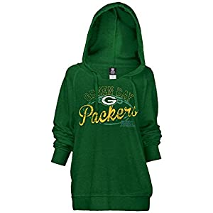 NFL Ladies Pullover Brushed Fleece Hoody, Green Bay Packers, Small