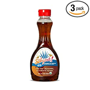 Sohgave! Agave Syrup, Amaretto Maple, 17-Ounce Bottles (Pack of 3)