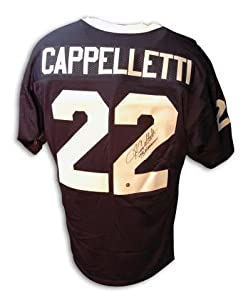 Autographed John Cappelletti Penn State Blue Jersey With Inscription