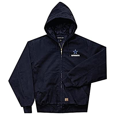 NFL Dallas cowboys Cumberland Canvas Quilt Lined Hooded Jacket, Navy, 4X