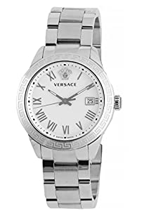 Versace Men's P6Q99GD002 S099 Pair Analog Display Quartz Silver Watch