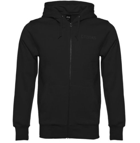Crooks and Castles Mens Knit Zip Hoody Collenglish Black: Large