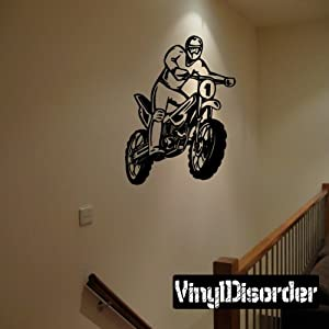 Dirt bike wall decal vinyl decal car for Dirt bike wall mural