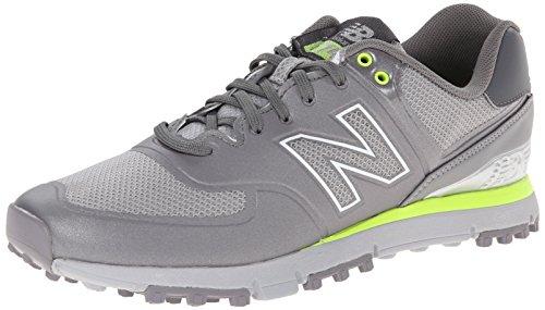 New Balance Men's NBG574B Spikeless Golf Shoe, Grey/Yellow, 13 D US