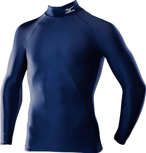 (ミズノ)MIZUNO メンズ バイオギアシャツ(ハイネック長袖) A60BS350 14 ネイビー M