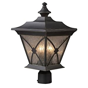 Click to read our review of Outdoor Post Lighting: ELK Lighting Rutland Square 11