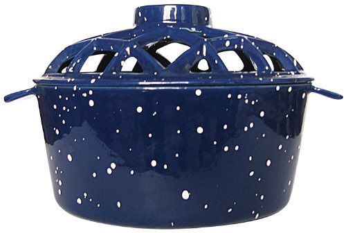 Uniflame, C-1931, Porcelain Coated Lattice Top Steamer- Blue With White Speckles