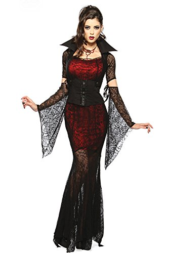Dear-lover Women's Vixen Vampire Costume Halloween Adult for Zombie DIY
