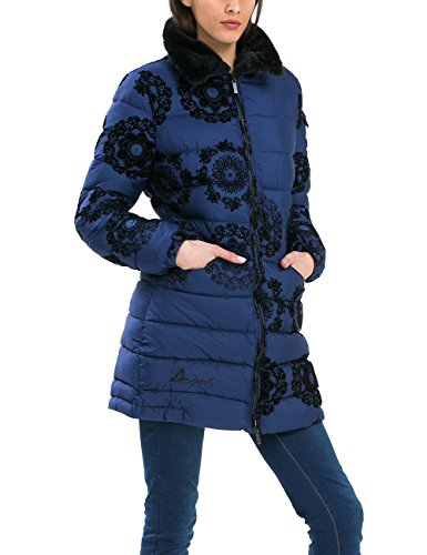 Desigual - ABRIG_PRUIT, Piumino da donna, multicolore (midnight 5040), 42
