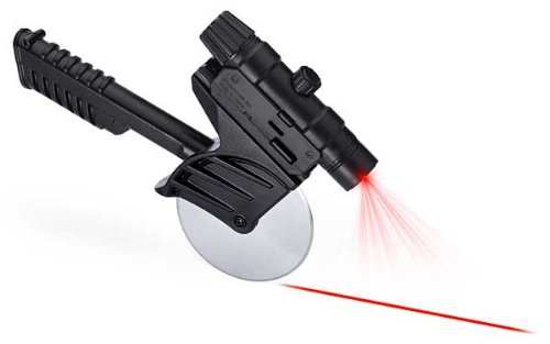 レーザーガイド付き ピザカッター Tactical Laser Guided Pizza Cutter Slicer Stainless Steel 【並行輸入品】