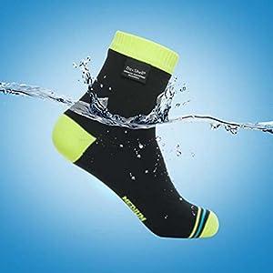 DexShell(デックスシェル) 防水通気靴下 UltraLite Biking socks (ウルトラライト バイキング ソックス) DS642H 蛍光色イエロー L
