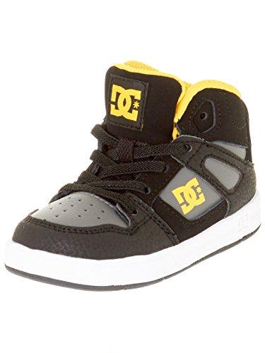 Chaussures tout-petits DC Rebound UL Noir-Gris-Jaune