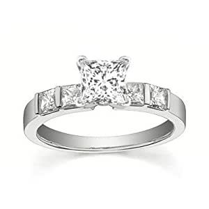 1 25 carat cheap engagement ring with princess cut