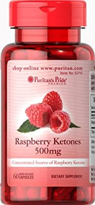 Puritan's Pride Raspberry Ketones 500 mg-60 Capsules