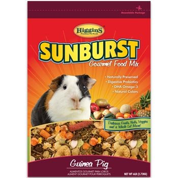 Higgins Sunburst Gourmet Guinea Pig Food Mix, 6 Lbs.
