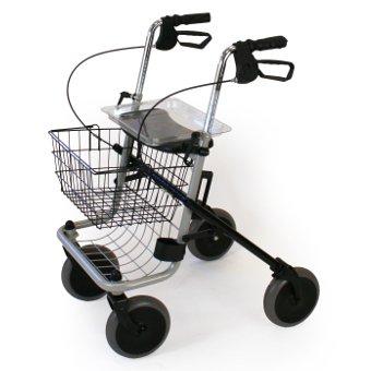 Déambulateur 4 roues pliable avec siège