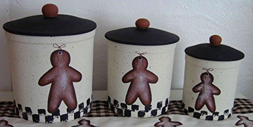 Gingerbread Love Stoneware Canister Set (Chefs Stoneware Canisters compare prices)