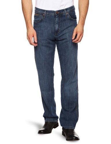 Wrangler - Jeans tapered, uomo, Blu (Linen Used), 60 IT (46W/34L)