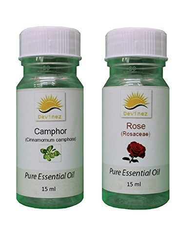 Devinez Aroma Camphor And Rose Essential Oil For Diffusers, 15ml (Pack Of 2)