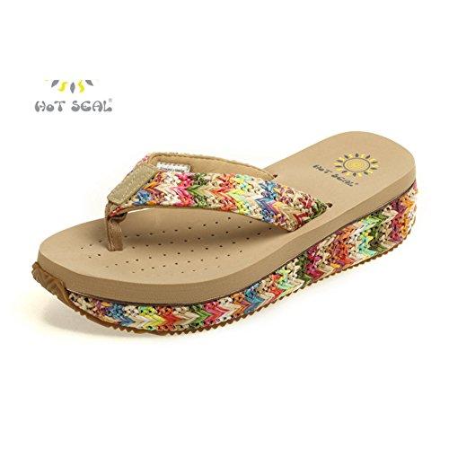 Le nouveau flip flops/Été de sexe féminin et de chaussures d'extérieur antidérapant/Pantoufles de pieds plate-forme pince