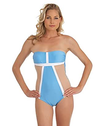 LUXE By Lisa Vogel - Mrs. Bond Maillot-Blue at Amazon