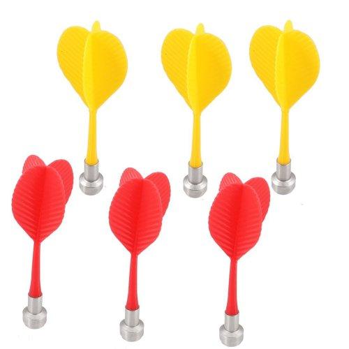 Dcolor 6 x Cible Rouge Jaune flechettes magnetique Aile plastique