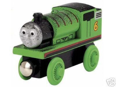Thomas the Tank Engine Wooden Coal Dust Percy Loose New Train & Character Card LC99123-B