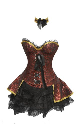SJ-127 Red Renaissance Outfit Costume - XL