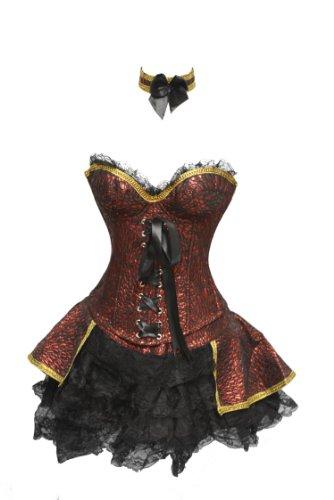 SJ-127 Red Renaissance Outfit Costume - XL