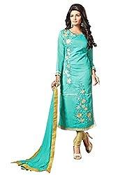 Ruaab Fashion Women Chanderi Designer Salwar Kameez Dress Material(RF_AD_391)