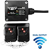 AGT 12V Waterproof Wireless Remote Control DC Universal 2-Channel Output LED/Lights