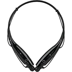 HBS-730 Bluetooth Stereo Headset HBS 730 Wireless Bluetooth Mobile Phone Headphone Earpod Sport Earphone with call functions (Black) for HTC Desire 820s dual sim or any music player, phone etc that supports Bluetooth Headsets