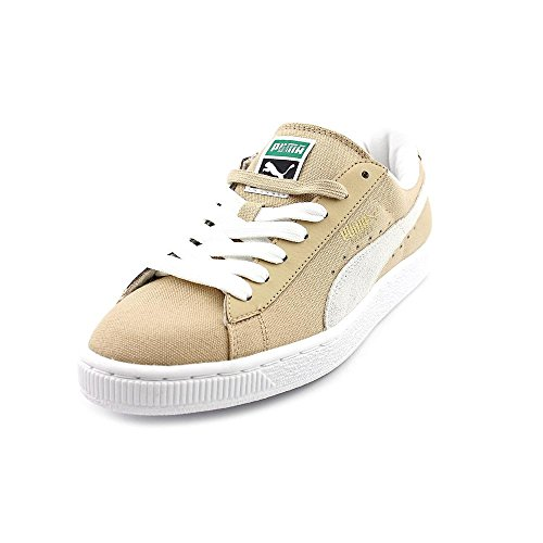 Puma Men'S Basket Classic Canvas Classic Sneaker,Curds/Whey/White,8 M Us