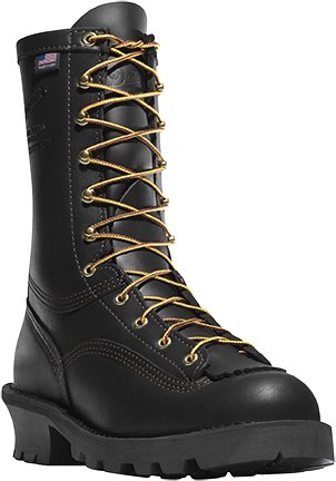 Danner Flashpoint II 10in Womens Black Leather Firefighter Boots 18102 10 W