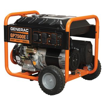Generac 5943 GP7500E 9,375 Watt Generator with Electric Start