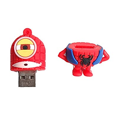 Generic Superhero Minion 8GB 2.0 USB Pendrive (Spideran)  - Multi colored