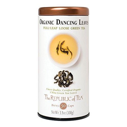 The Republic Of Tea Organic Usda Dancing Leaves Green Full-Leaf Tea, 3.5 Ounces / 50-60 Cups