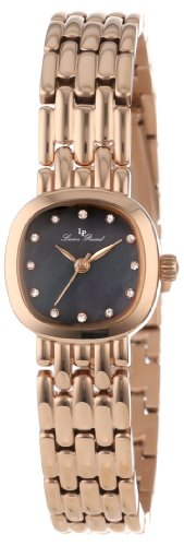 Lucien Piccard Women's 12012-RG-01MOP Teide Black Mother-Of-Pearl Dial Crystal Accented Rose Gold Ion-Plated Stainless Steel Watch