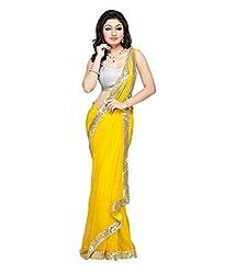 Z Hot Fashion Women's Printed Border work Saree In Chiffon Fabric (ZHKN1066) ...