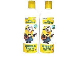Minions Movie Bubble Bath with Vitamin E Banana Scented 16 OZ, Set of 2
